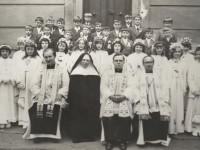 1975r. - Ojcowie Cystersi - Augustyn, Tadeusz, Baldwin i s. Celestyna