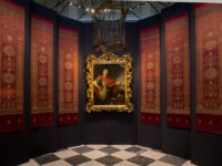 pokaz portretu Jana III i tkanin tureckich